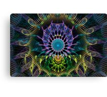 Peacock Dreamcatcher Canvas Print
