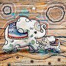 Lucky Star Elephants by © Cassidy (Karin) Taylor