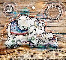 Lucky Star Elephants by © Karin  Taylor