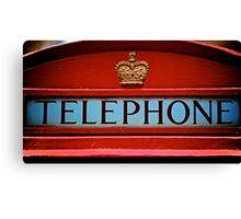 London's iconic phone box Canvas Print