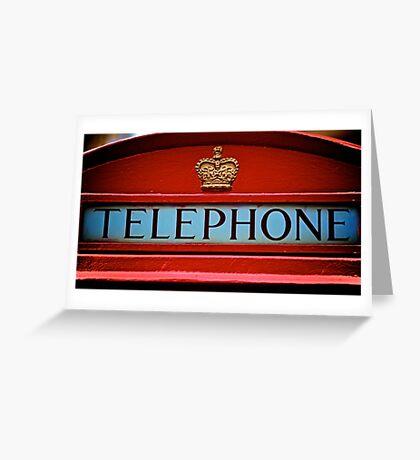 London's iconic phone box Greeting Card