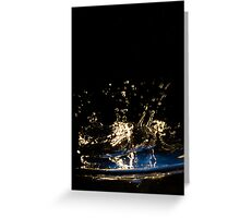 Water Shapes - 06 Greeting Card