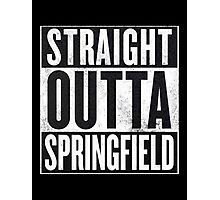 Straight Outta Springfield - The Simpsons Photographic Print