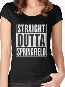 Straight Outta Springfield - The Simpsons Women's Fitted Scoop T-Shirt