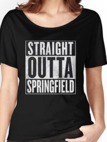 Straight Outta Springfield - The Simpsons Women's Relaxed Fit T-Shirt