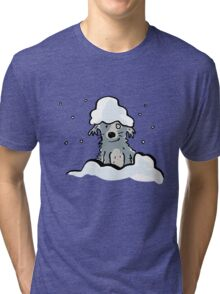 dog in the snow Tri-blend T-Shirt