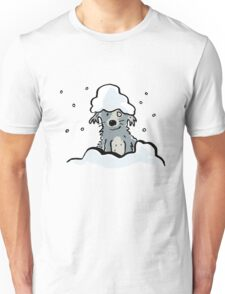 dog in the snow Unisex T-Shirt