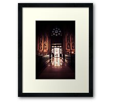 Waiting in Faith Framed Print