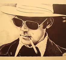 Hunter S. Thompson by Kyle Willis