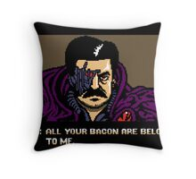 All your bacon are belong to us Throw Pillow
