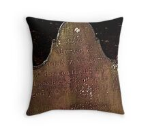 John Van Tassell's Headstone, Sleepy Hollow Cemetery Throw Pillow