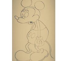 Vintage Sad Mickey Mouse by bryanbryanbryan