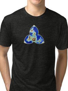 Tri-point World Map Tri-blend T-Shirt