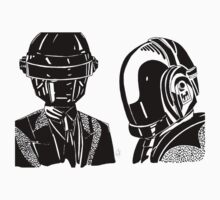 Daft punk sharpie drawing by Robert  Taylor
