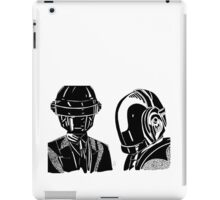 Daft punk sharpie drawing iPad Case/Skin