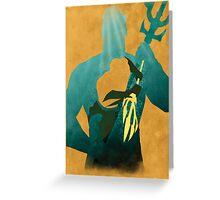 JLA: Aquaman Minimalist Comics Justice League of America Greeting Card