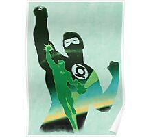 JLA: Hal Jordan Green Lantern Minimalist Comics Justice League of America Poster