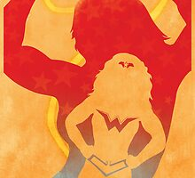 JLA: Wonder Woman Minimalist Comics Justice League of America by markitzero