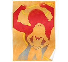 JLA: Wonder Woman Minimalist Comics Justice League of America Poster