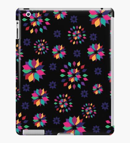 Rainbow Petals in Black iPad Case/Skin