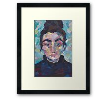 Marcelle - Portrait of a young woman Framed Print