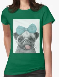 Pug love Womens Fitted T-Shirt