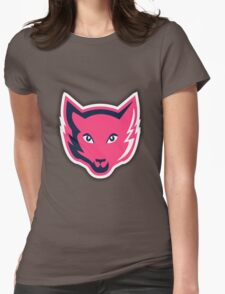Pink Fox Womens Fitted T-Shirt