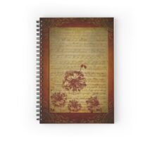 Vintage Sheet Music And Flowers Spiral Notebook
