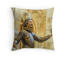 Christopher Columbus - Seville Cathedral Throw Pillow