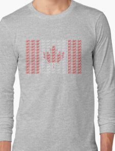 Bike Flag Canada (Small) Long Sleeve T-Shirt