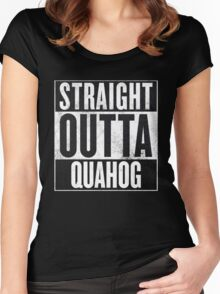Straight Outta Quahog - The Family Guy Women's Fitted Scoop T-Shirt