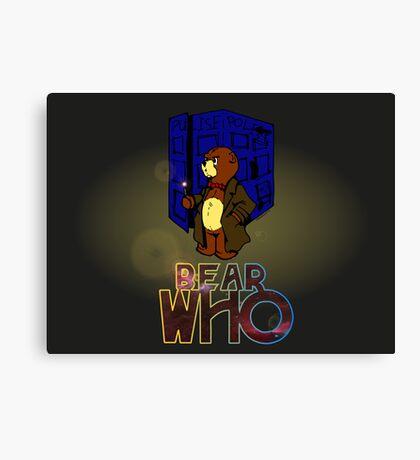 Mad Bear With A Box Canvas Print