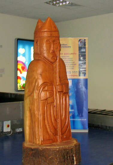 Bishop, Giant Chessman - Stornoway Airport by BlueMoonRose