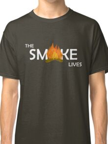 The Smoke Lives-White Classic T-Shirt