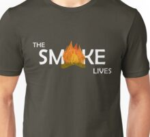 The Smoke Lives-White Unisex T-Shirt