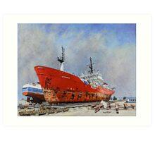 Dry Dock: Punta Arenas. Art Print