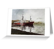 Waiting for the mist to clear. Greeting Card