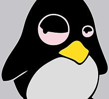 LAZY LINUX TUX PENGUIN by SofiaYoushi