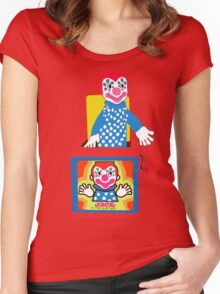 Jack in the Music Box- Nostalgia Toys Women's Fitted Scoop T-Shirt