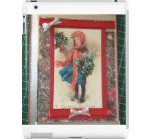 Vintage Greeting Card Art Holly Seller iPad Case/Skin