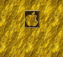Real StoneGold Casses + Apple Logo by Vidka Art