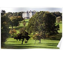 The Mansion  from the Golf Course.  Poster