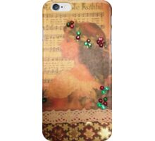Vintage Greeting Card Holly and ivy iPhone Case/Skin