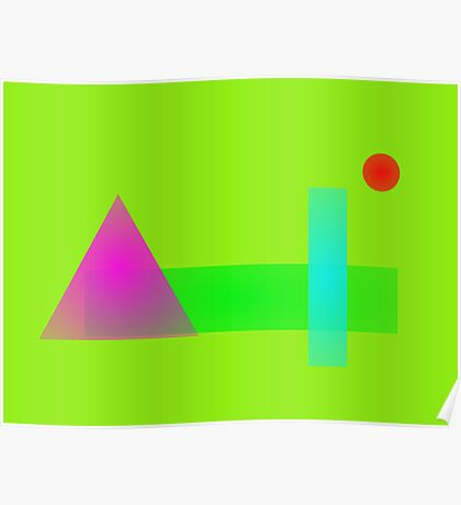 Minimalism Light Green Poster