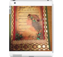Vintage Greeting Card Holly and ivy iPad Case/Skin
