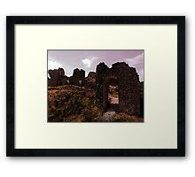 The Archway to Destroyed Ruins Framed Print