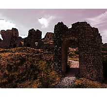 The Archway to Destroyed Ruins Photographic Print
