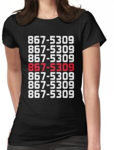 867-5309 Womens Fitted T-Shirt
