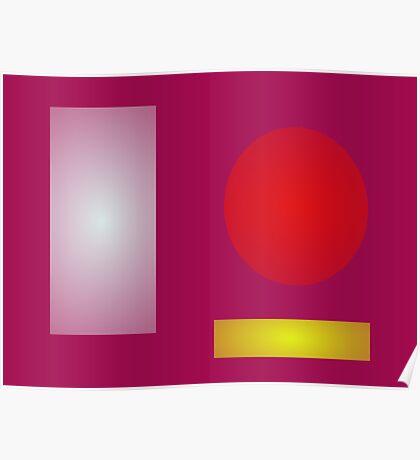 Minimalism Red Purple Poster