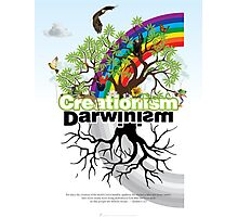 Creationsim vs Darwinism Photographic Print